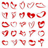 25 Hearts. 25 Logos for Heart or Love related themes Royalty Free Stock Images
