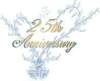25. Hochzeitsjahrestag Lizenzfreie Stockfotos