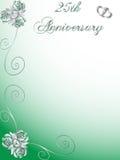 25. Hochzeitsjahrestag Stockfoto