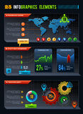 25 Infographics design elements stock illustration