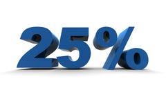 25% isolado Fotografia de Stock Royalty Free
