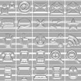 25 Isolated Internet and Communication icons set. Created from lines with rounded corners Stock Photo