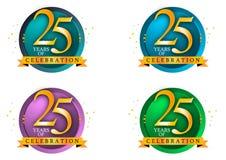 25 jaar royalty-vrije illustratie
