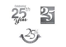 25 Jahre Jahrestagsjubiläum Stockbild