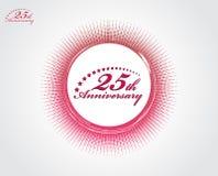25. Jahrestag lizenzfreie abbildung
