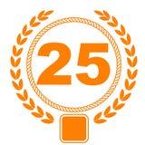 25. Jahrestag Lizenzfreie Stockbilder