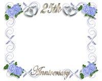 25. Jahrestags-Schablone Stockbild
