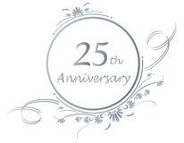 25. Jahrestagsauslegung Stockfotos