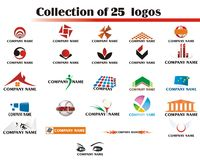 25 Logos Set - logo Stock Image