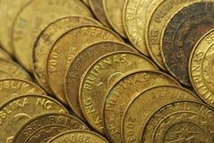 25 monedas de Philippine del centavo Foto de archivo libre de regalías