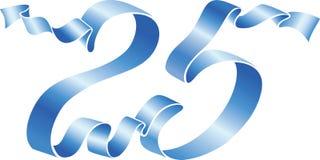 25 niebieskie wstążki Zdjęcie Stock
