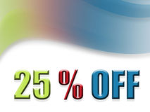 25 off Royalty Free Stock Image