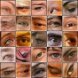 25 olhos em um tabuleiro de xadrez Fotografia de Stock Royalty Free