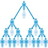 25. Organization Leader in blue. Royalty Free Stock Photos