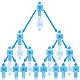 25. Organization Leader in blue. stock illustration