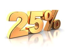 25 percent Royalty Free Stock Photos