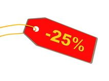 25 percent discount Stock Photos