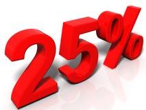 25 percenten Royalty-vrije Stock Afbeeldingen