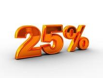 25 pour cent Photo stock