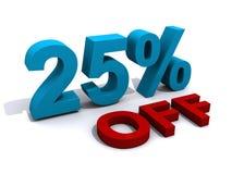25 pour cent hors fonction Photos stock