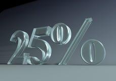 25 procentów Zdjęcia Royalty Free