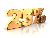 25 procent royaltyfri illustrationer