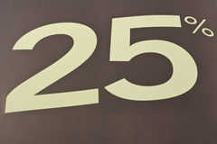 25 procentu znak Fotografia Stock