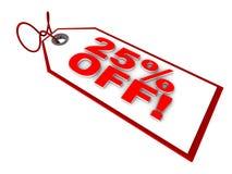 25 Prozent weg Lizenzfreie Stockbilder
