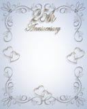 25 rocznicę zaproszenie na ślub Obraz Royalty Free