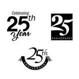 25 rocznicowych jubileuszowych rok royalty ilustracja