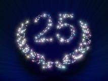 25 årsdagnummerstjärnor Fotografering för Bildbyråer