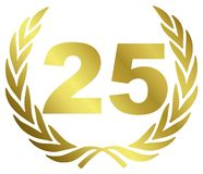 25 verjaardag Stock Foto's