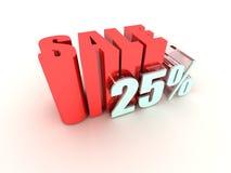 25% Verkaufs-Zeichen Lizenzfreie Stockfotografie