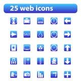 25 Web-Ikonen Lizenzfreies Stockbild