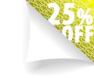 25% weg Royalty-vrije Stock Afbeelding