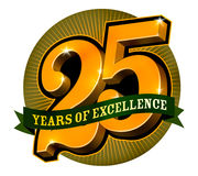 Logo design for 25 years of excellence