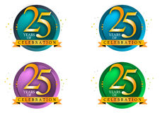 25 years. Of celebration art work Royalty Free Stock Photography