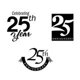 25 years anniversary jubilee. Jubilee 25 years anniversary logo icon Royalty Free Illustration
