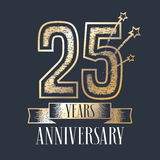 25 Years Anniversary Vector Icon, Logo Royalty Free Stock Photo