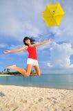 25 zabawa plażowa Zdjęcia Royalty Free