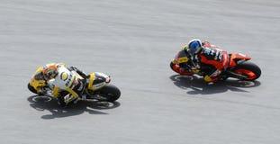 250cc motogp jeździec dwa Fotografia Royalty Free