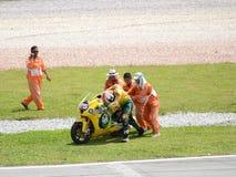 250cc motogp wypadkowy jeździec Zdjęcia Royalty Free