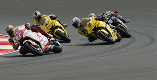 250cc riders at 2007 Polini Malaysian Motorcycle G Stock Photo