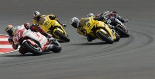 250cc riders at 2007 Polini Malaysian Motorcycle G stock photo