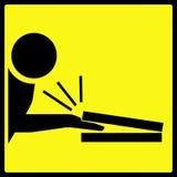 手指捏的符号警告 库存照片