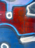 抽象街道画 免版税库存照片