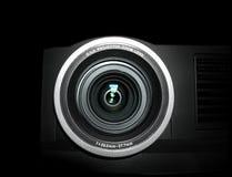接近的透镜放映机 免版税库存照片
