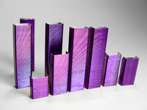 摘要ii紫色钉书针 免版税库存照片