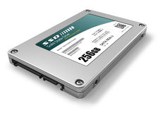 256GB solid state drive (SSD). Isolated on white background Stock Photography