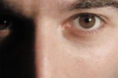 放松的眼睛 免版税图库摄影